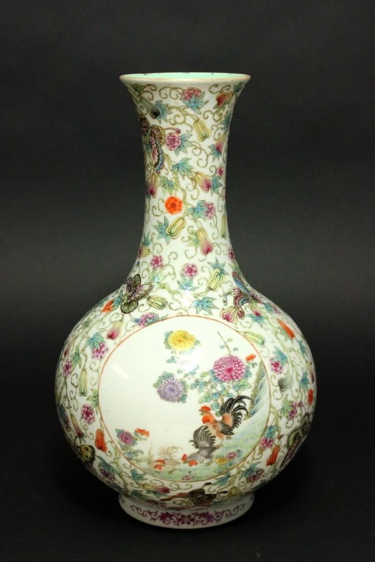 Chinese Porcelain Vase with 3-Panel Design - 6