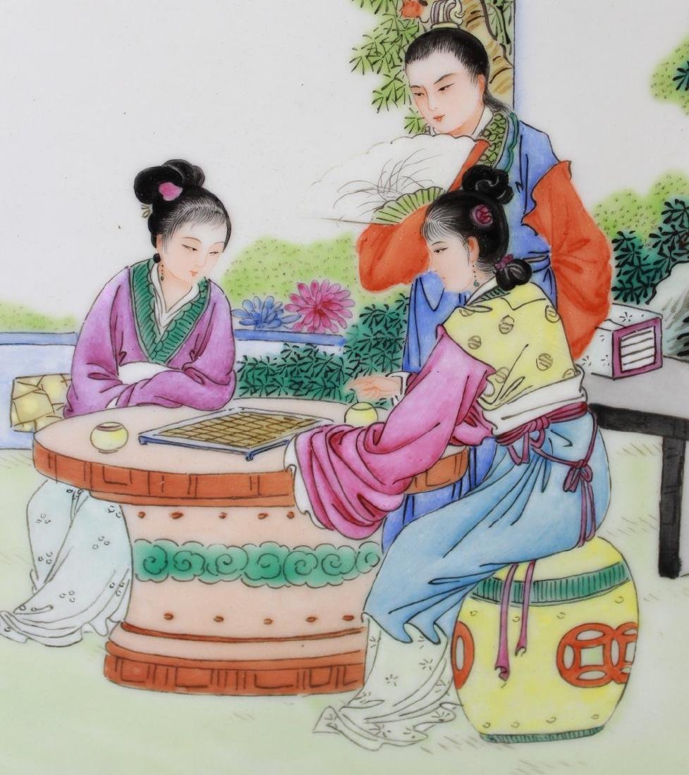 Pair Porcelain Chinese Plaques - 3