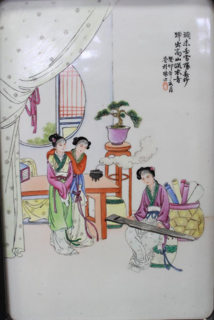 Pair Porcelain Chinese Plaques - 5