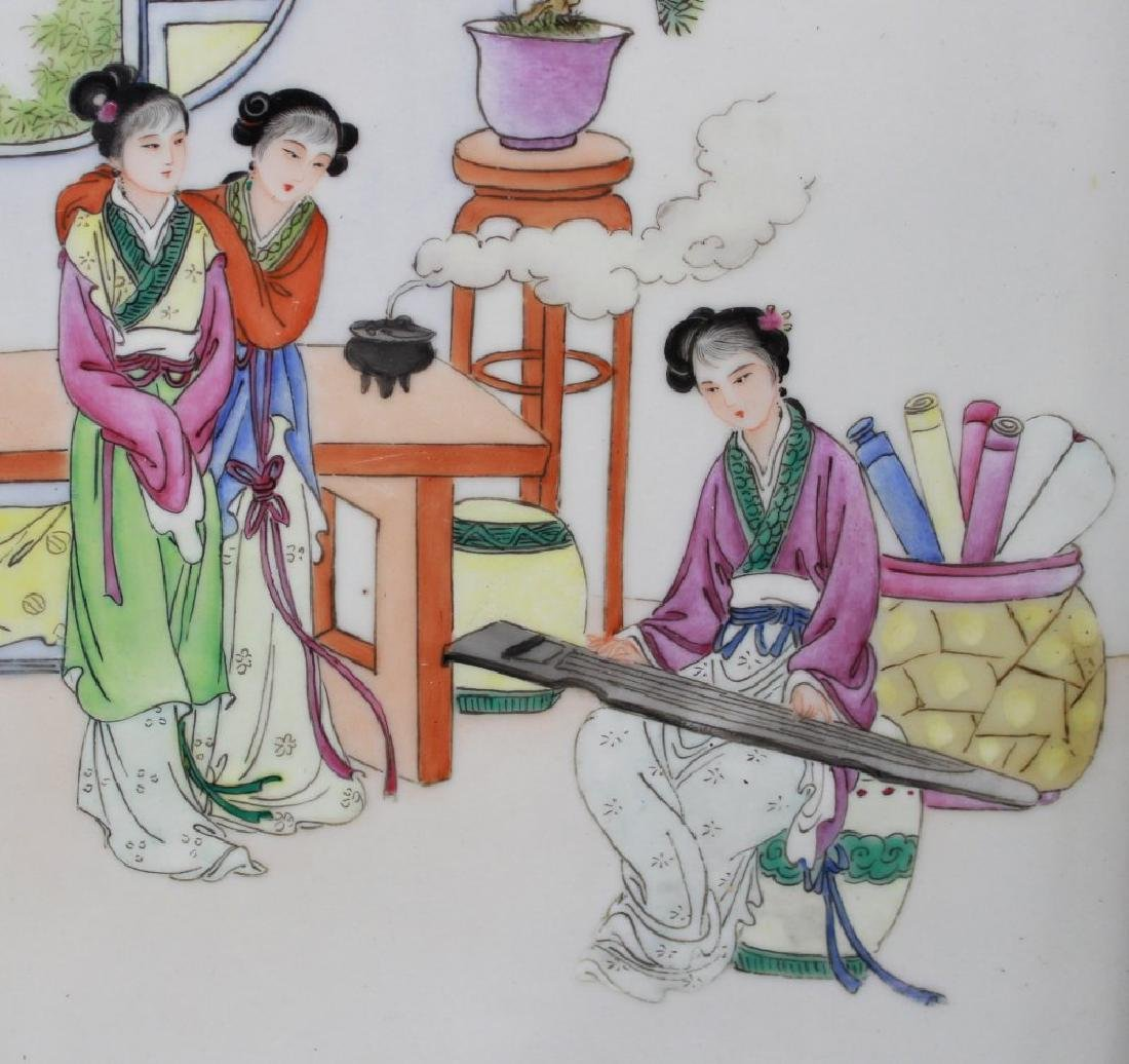 Pair Porcelain Chinese Plaques - 6