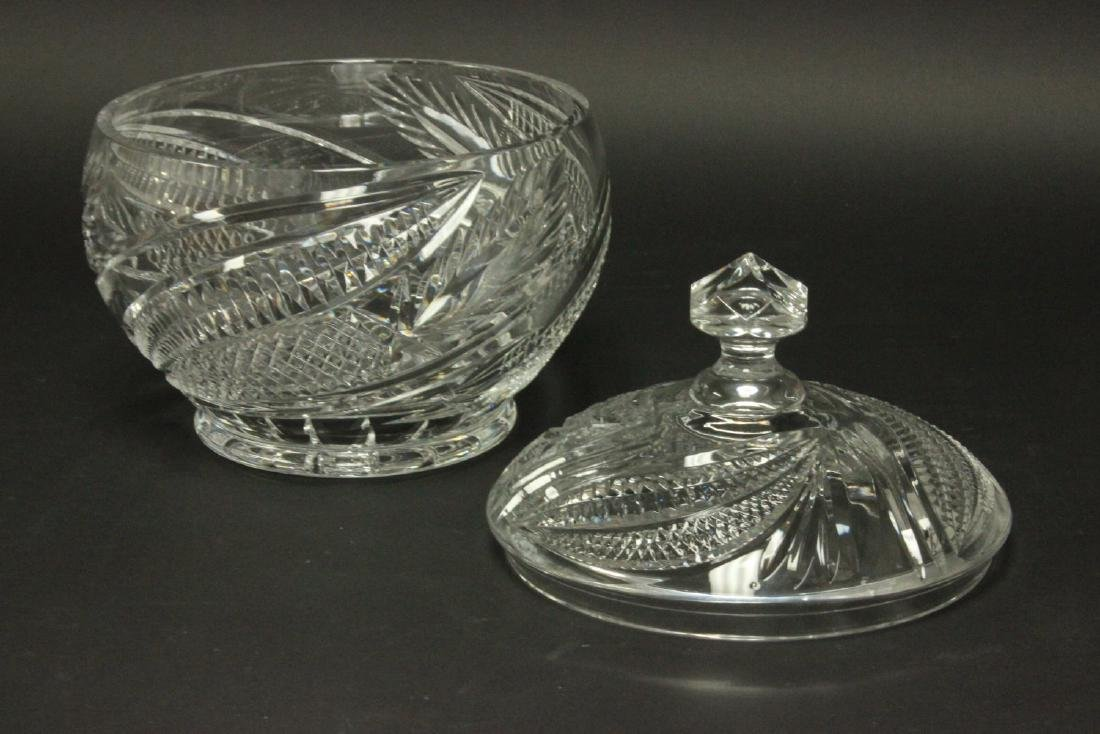 Cutglass Covered Punch Bowl - 2