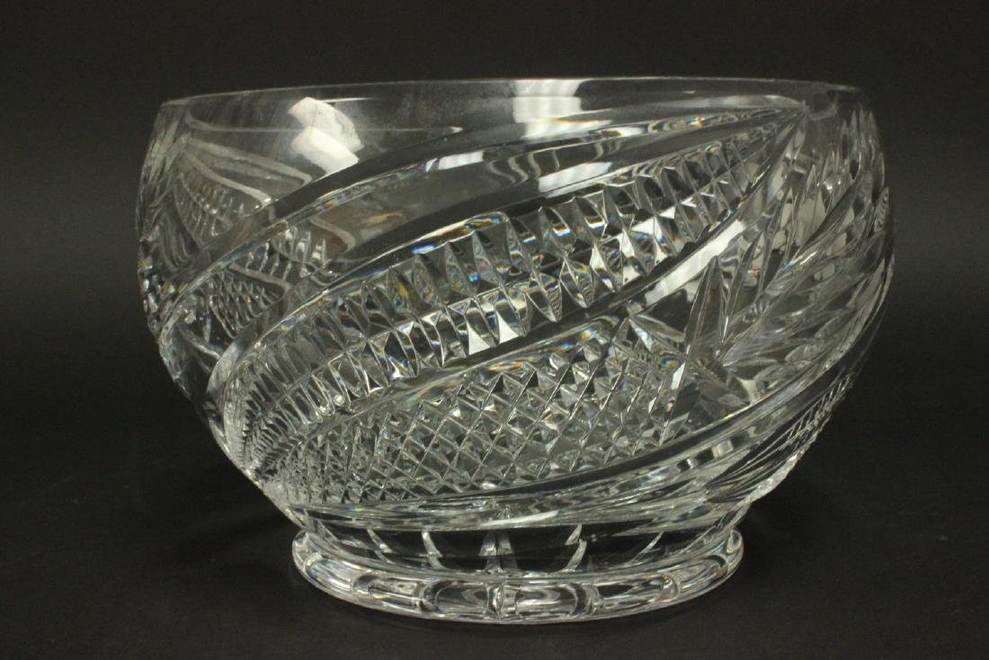 Cutglass Covered Punch Bowl - 3