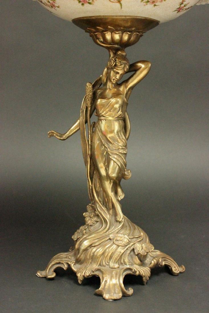 2-Tier Bronze & Porcelain Centerpiece - 3