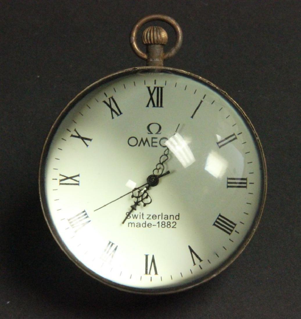 Glass & Brass Ball Desk Clock