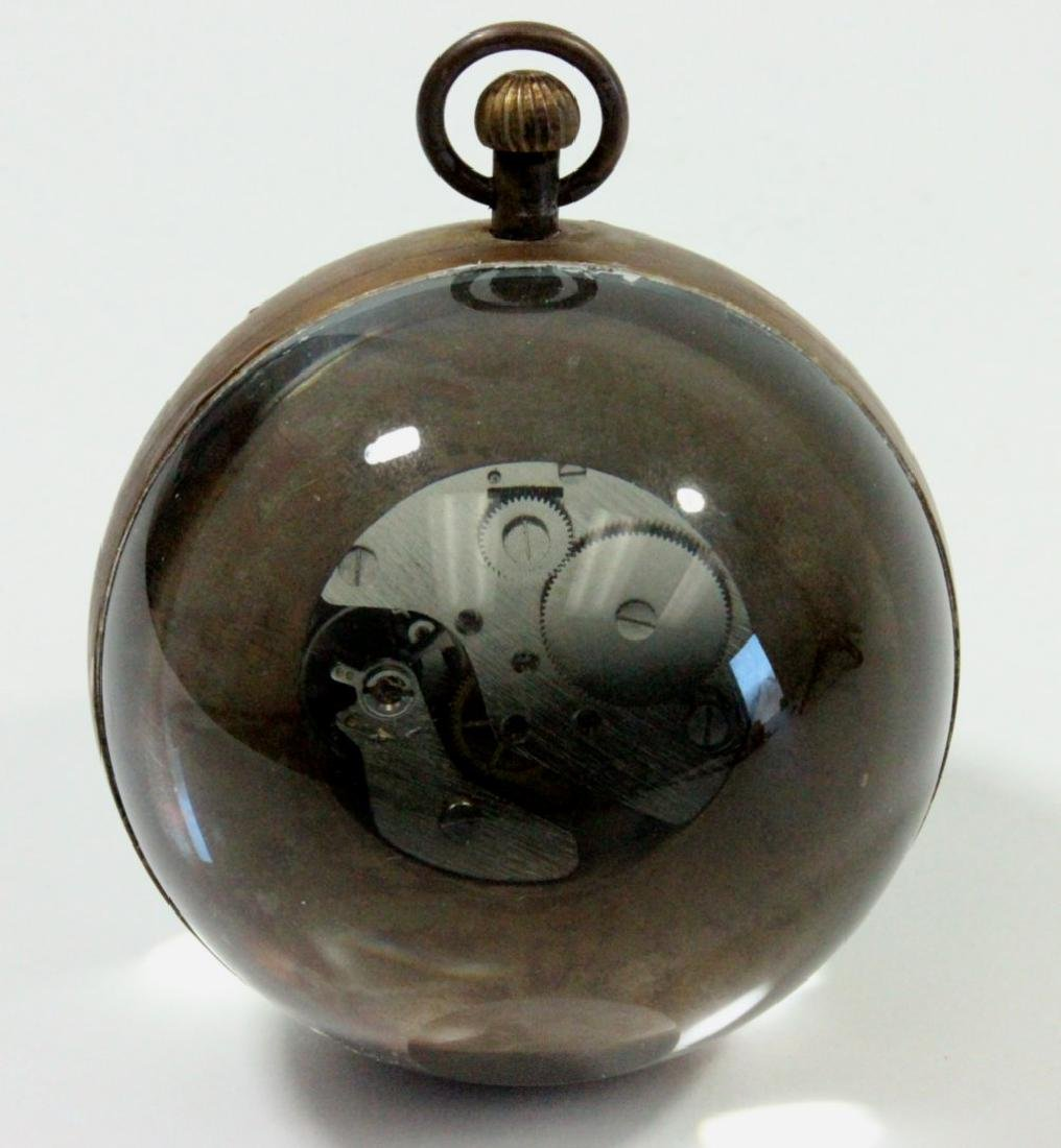 Glass & Brass Ball Desk Clock - 3