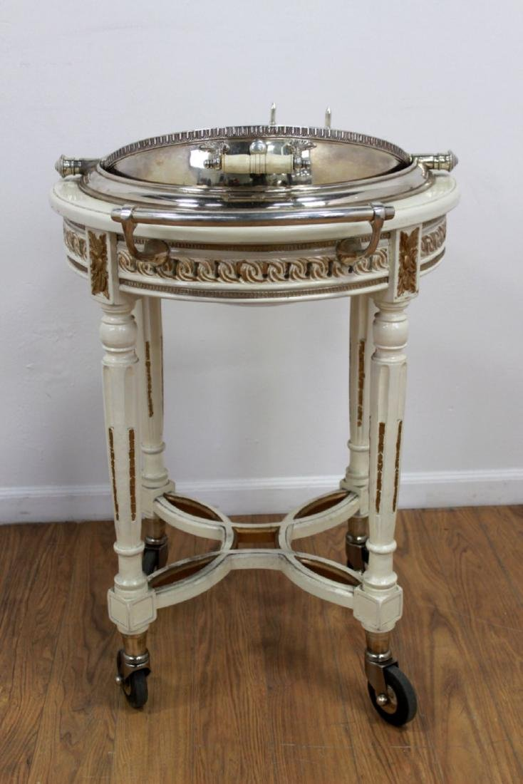 Silverplated Meat Trolley - 3