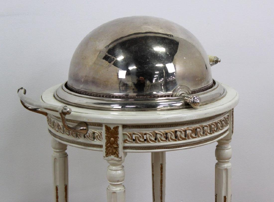 Silverplated Meat Trolley - 4