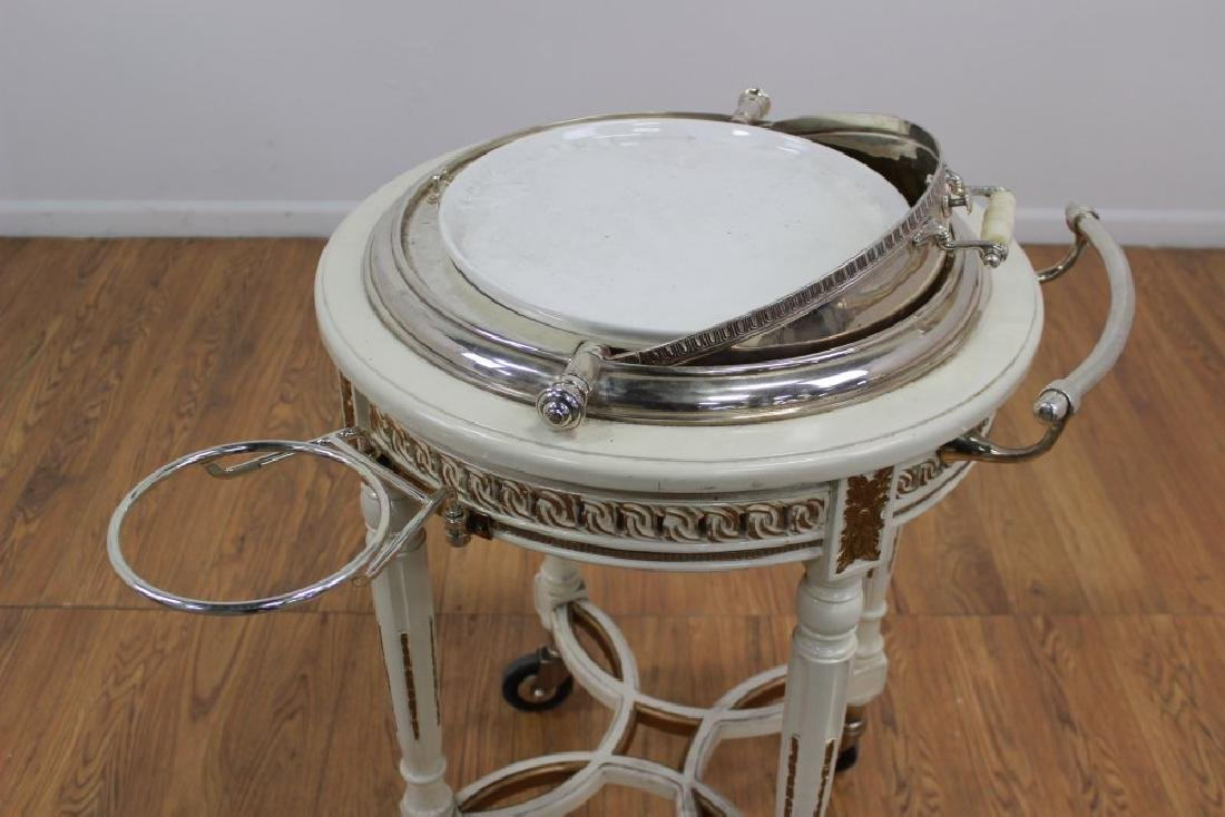 Silverplated Meat Trolley - 6