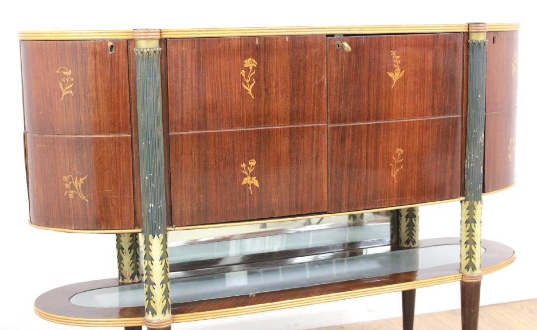 :Italian Art Deco Inlaid Rosewood Bar - 2