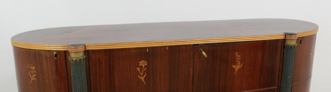 :Italian Art Deco Inlaid Rosewood Bar - 3