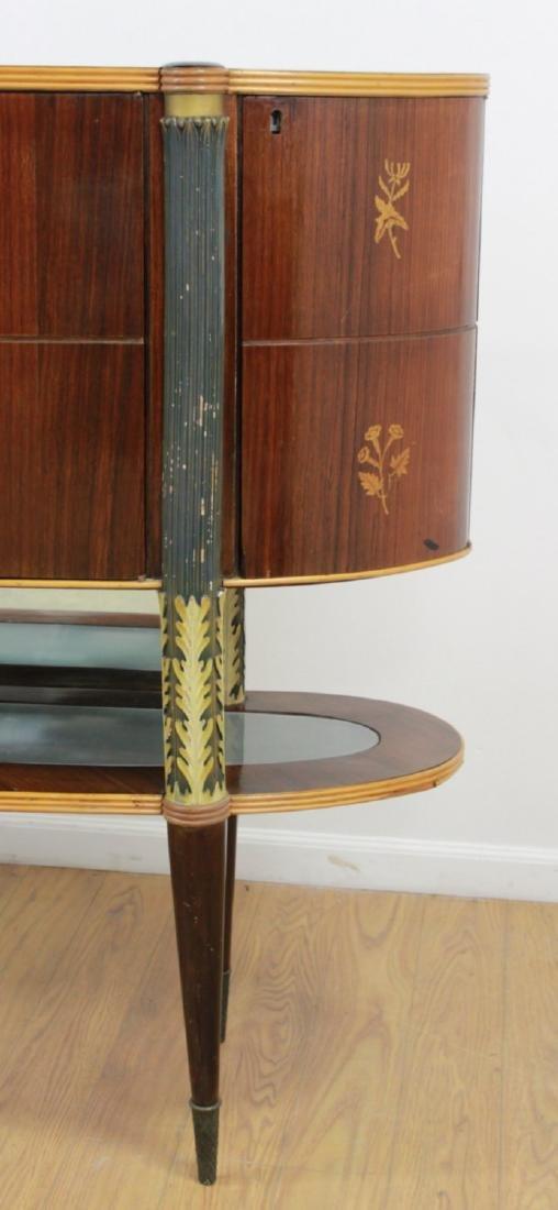 :Italian Art Deco Inlaid Rosewood Bar - 4