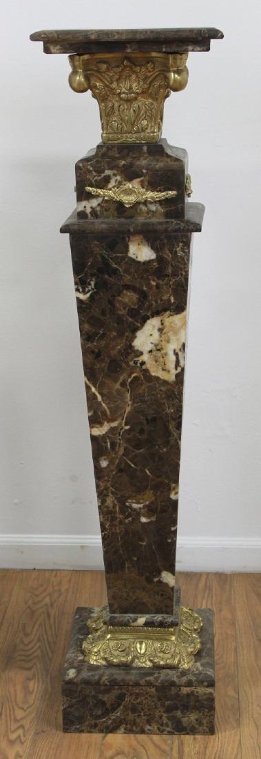 Pair Verde Marble Pedestals - 3