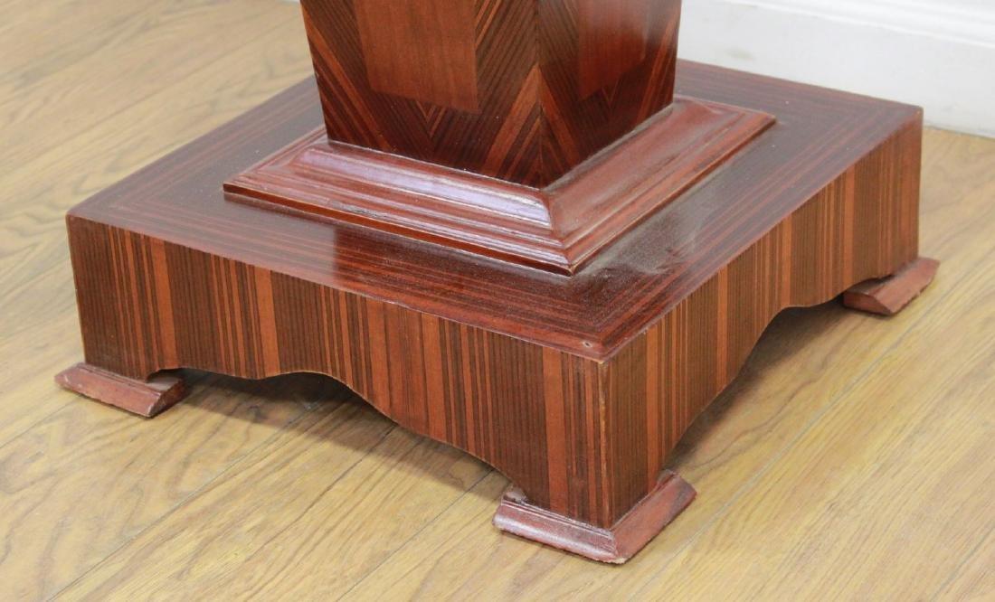 Pair Wood & Marble Top Pedestals - 4