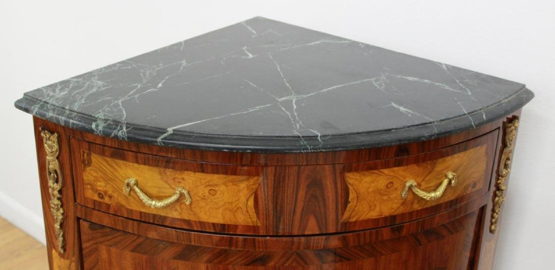 Pair Marble Top Corner Cabinets - 5