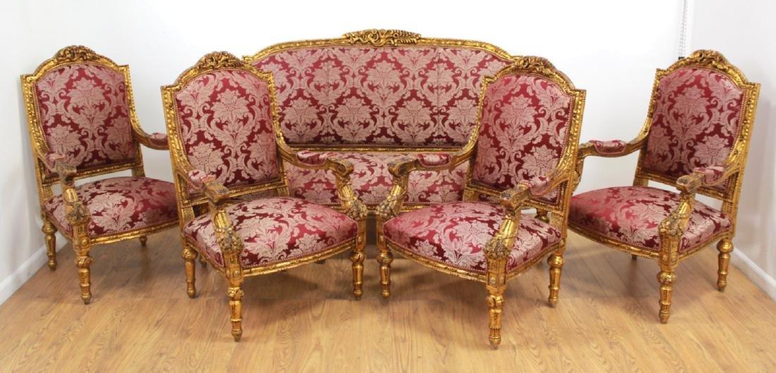 5-Piece Louis XV Style Salon Set
