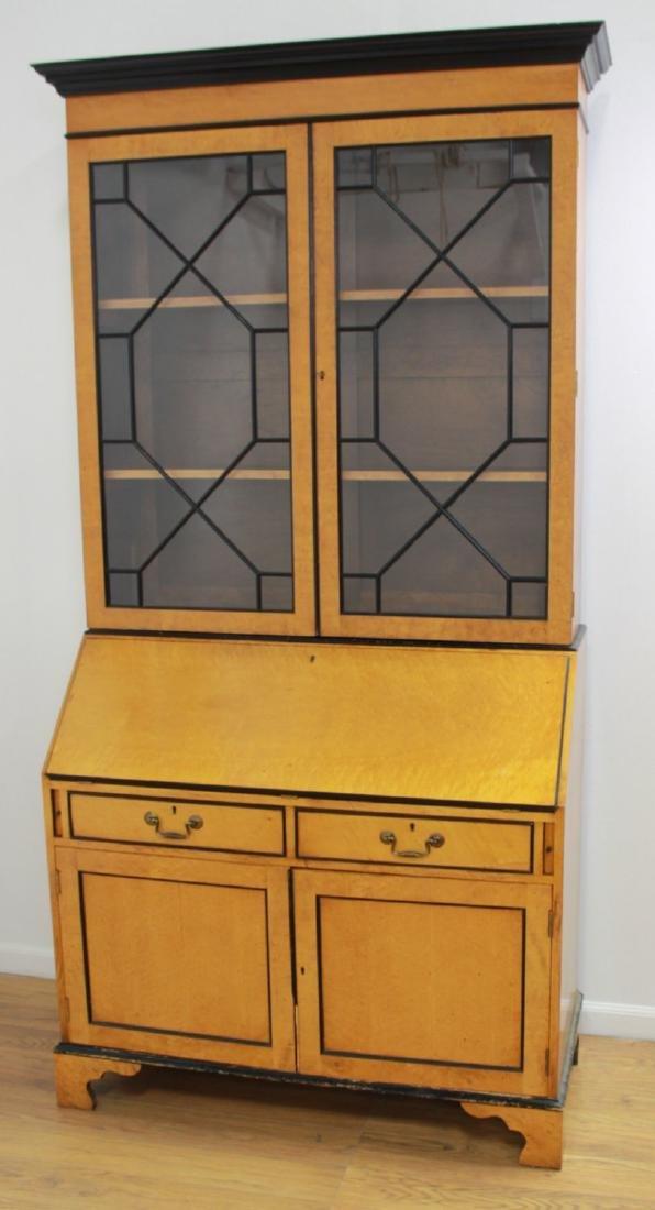 Biedermeier Style 2-Part Maple Secretary