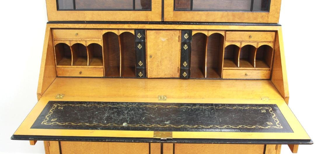 Biedermeier Style 2-Part Maple Secretary - 3