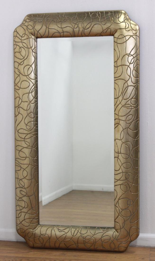 Modern Gold Framed Mirror