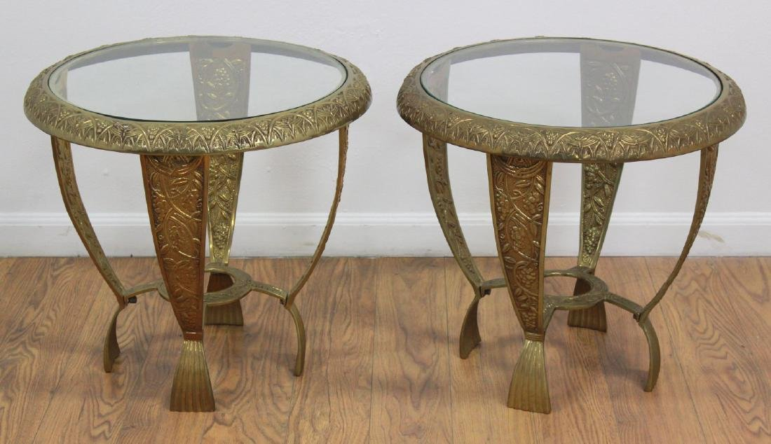 Pair Art Deco Style Side Tables