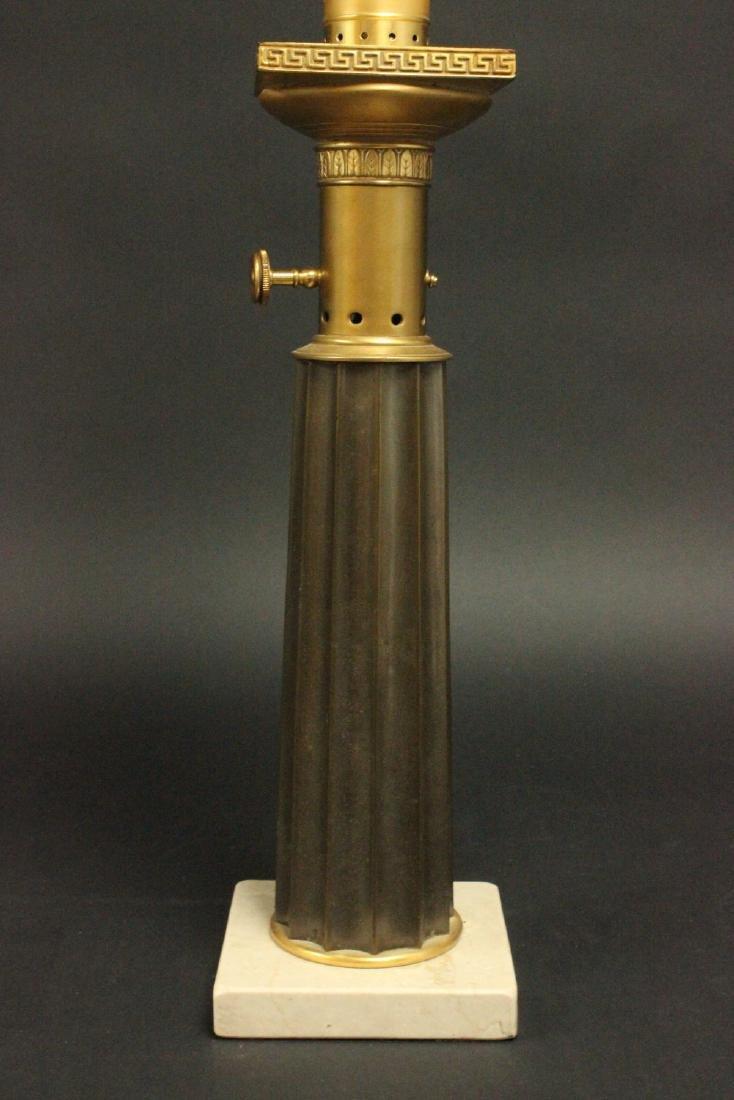 Pr Brass & Marble Mid-Century Modern Column Lamps - 4
