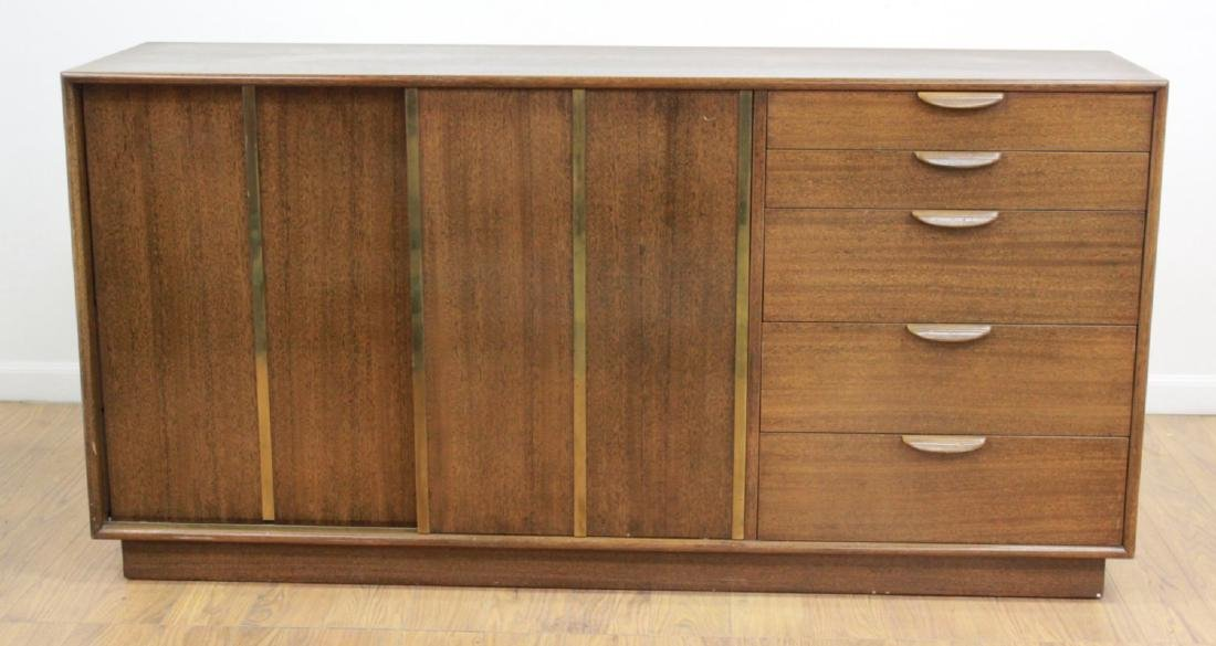 Harvey Probber Sliding Door Triple Dresser