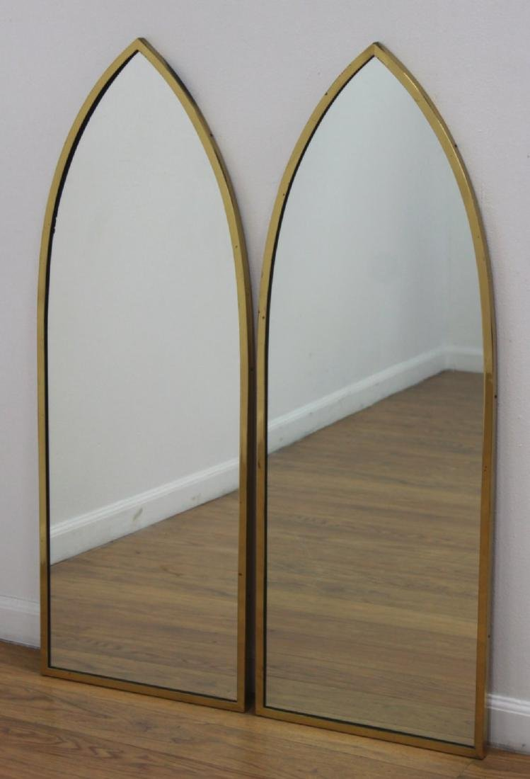 Pair Harvey Probber Brass Mirrors