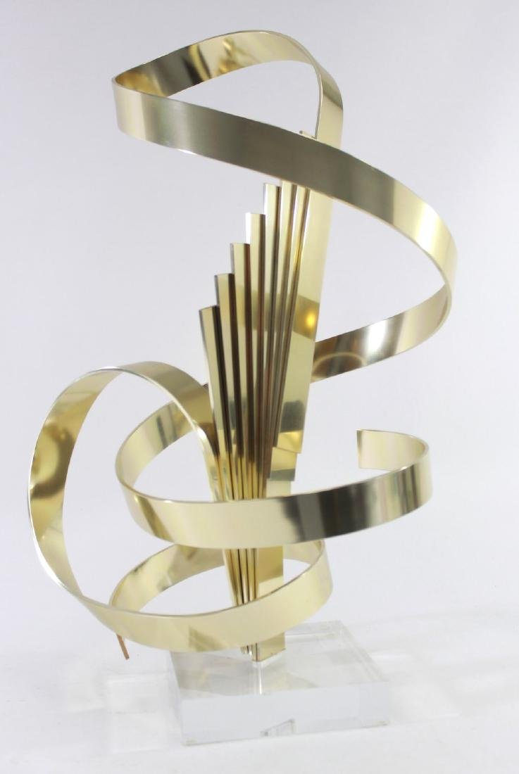 Dan Murphy Abstract Spiral Brass Sculpture - 2