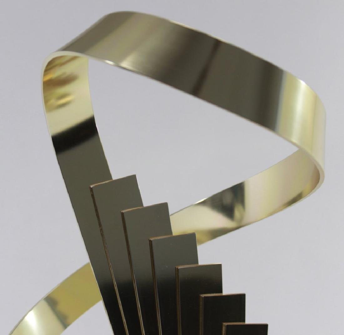 Dan Murphy Abstract Spiral Brass Sculpture - 3