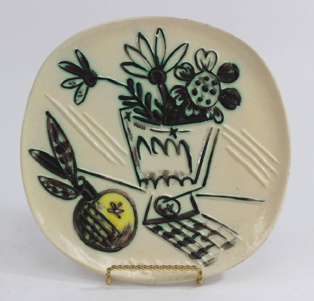 """Pablo Picasso Plate, """"Bunch with Apple"""""""