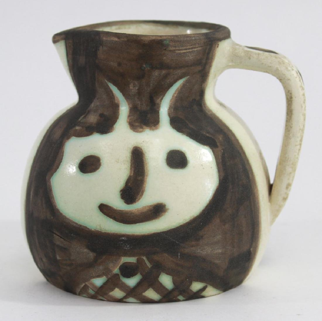 Pablo Picasso Glazed Pitcher with Faces