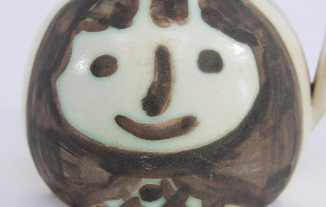 Pablo Picasso Glazed Pitcher with Faces - 2
