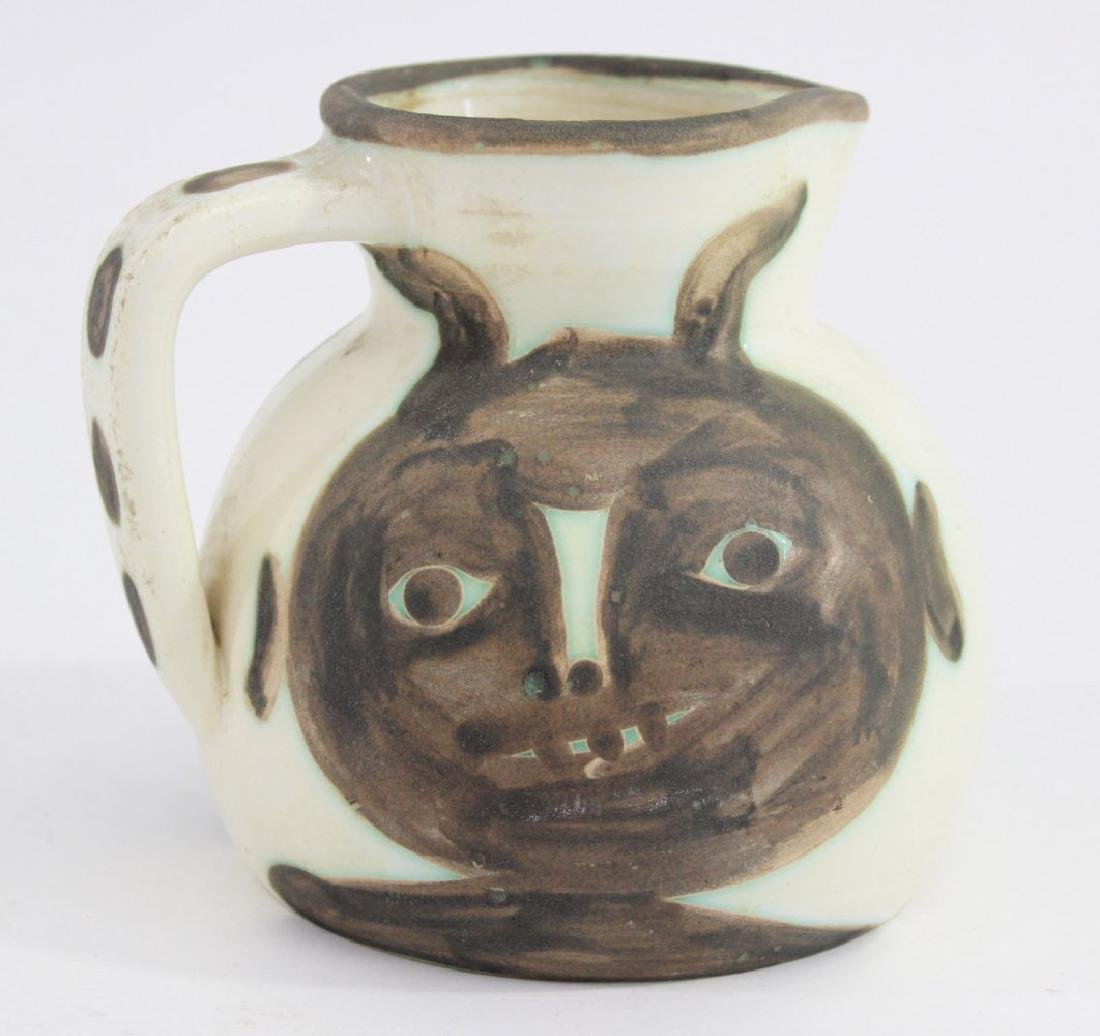 Pablo Picasso Glazed Pitcher with Faces - 3