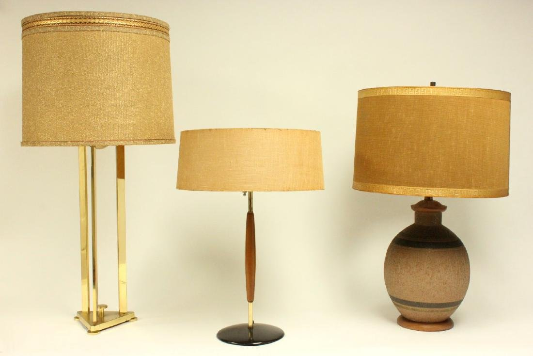 3 Mid-Century Modern Table Lamps