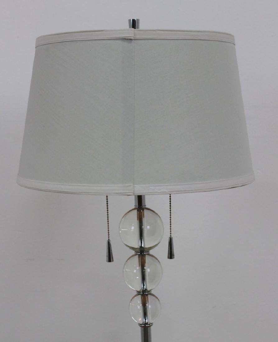 Modern Chrome & Lucite Pole Lamp - 2