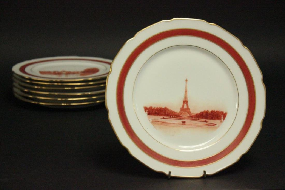 7 Limoges Plates with Scenes of France