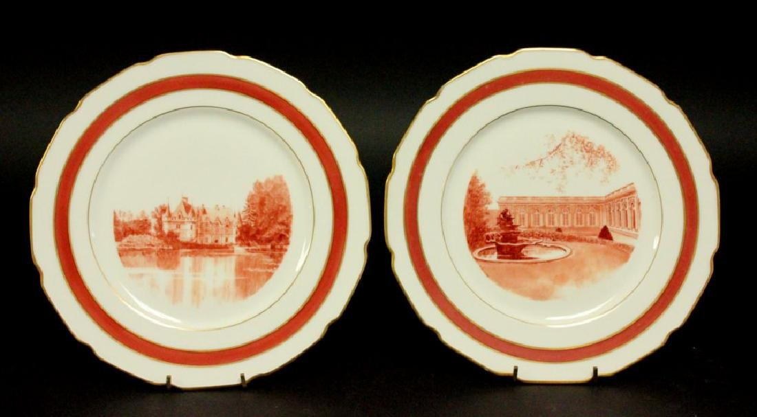 7 Limoges Plates with Scenes of France - 2