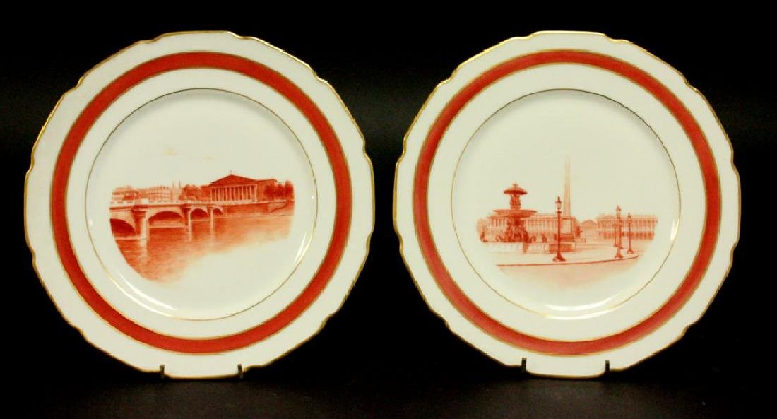 7 Limoges Plates with Scenes of France - 3