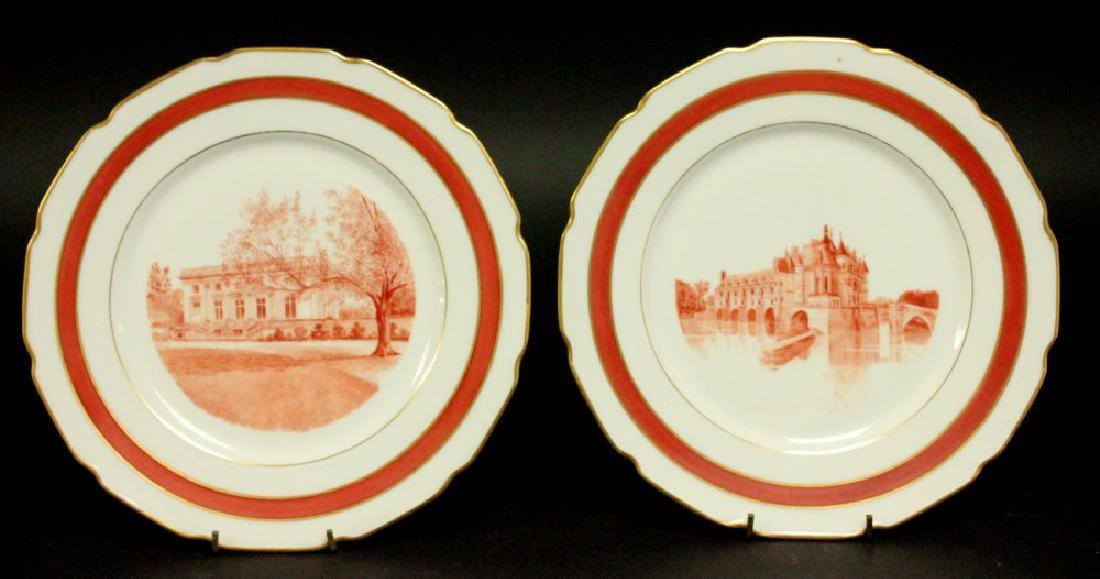 7 Limoges Plates with Scenes of France - 4