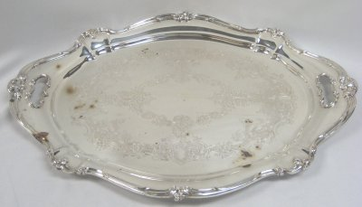 39: SILVER PLATE TRAY BY GORHAM