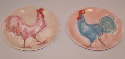 40: TIFFANY & CO. ROOSTER PLATES