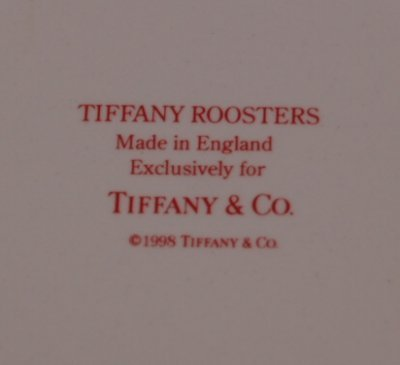40: TIFFANY & CO. ROOSTER PLATES - 2
