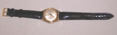 793A: 18KT GOLD BULOVA ACCUTRON WRIST WATCH