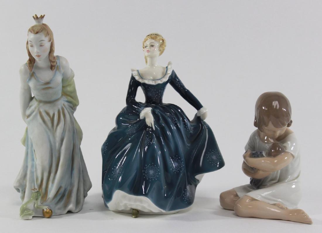 3 Figurines, Doulton, Rosenthal, Copenhagen