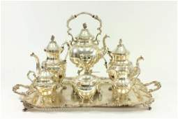 7-Piece Sheffield Silverplate Tea Set