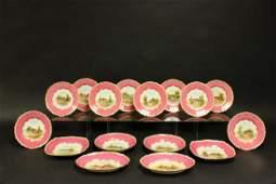 16 Handpainted Royal Worcester Porcelain Pieces