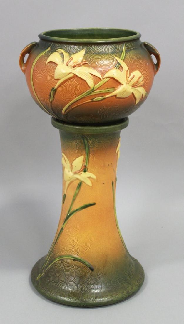 Roseville Jardiniere & Pedestal