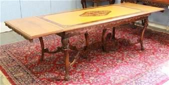 :Satinwood & Walnut Dining Room Table