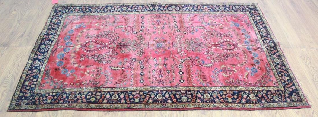 Circa 1920s Persian Red Sarouk Rug / Carpet