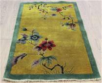 1930s Art Deco Chinese Scatter Rug / Carpet