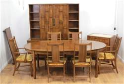 Modern Mid-Century Walnut Dining Room Set